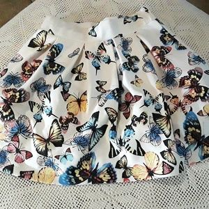 Justice butterfly skirt